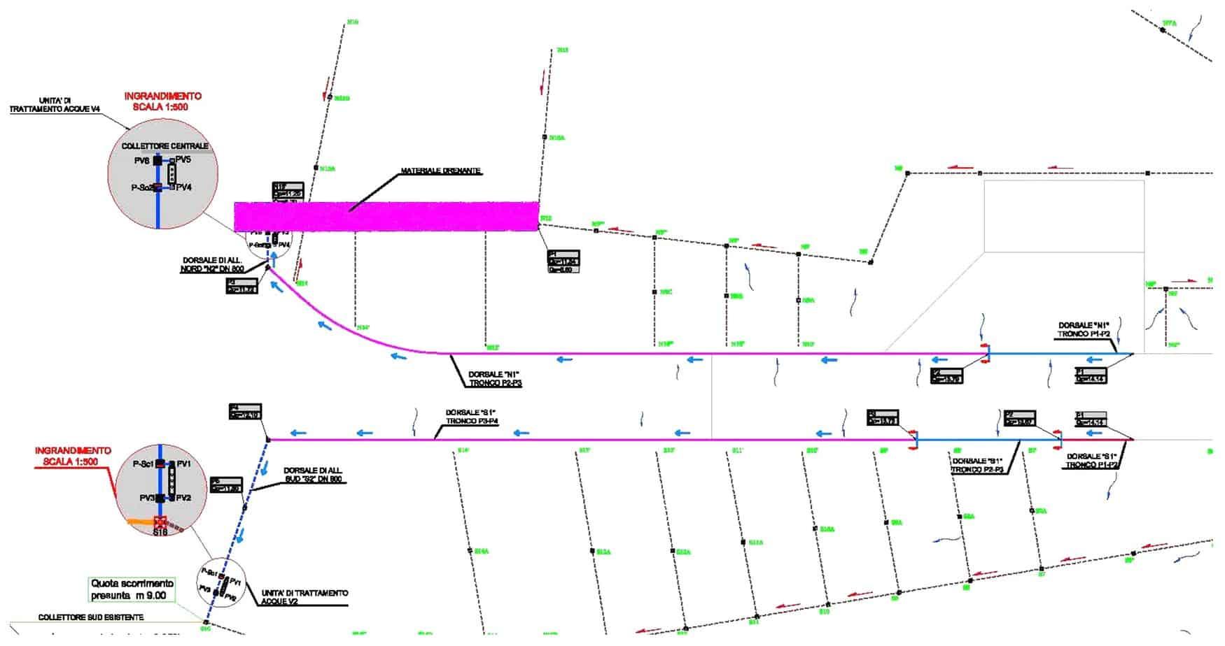 Lo schema del progetto presso l'aeroporto Sant'Eufemia di Lamezia Terme