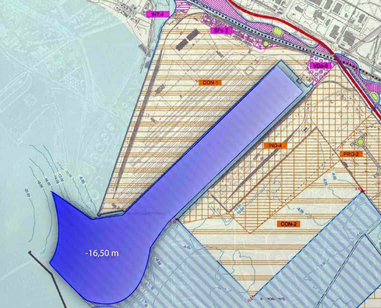L'area che sarà sottoposta ad approfondimento dei fondali