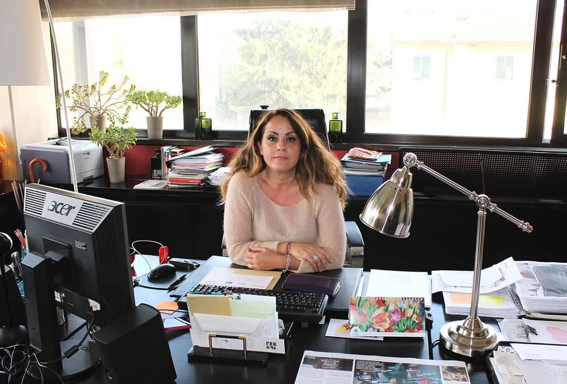 Anna Sodi nel suo ufficio situato nella sede centrale dell'omonimo Gruppo a Barberino del Mugello. Guida con successo l'Azienda di famiglia fondata dal padre nel 1957