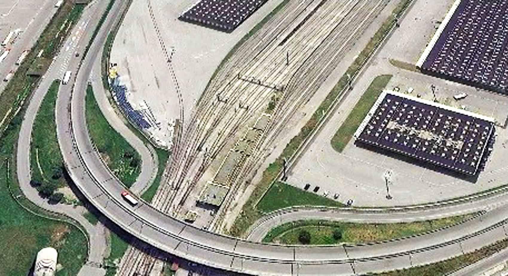 Il deposito e la rete ferroviaria dell'interporto di Nola