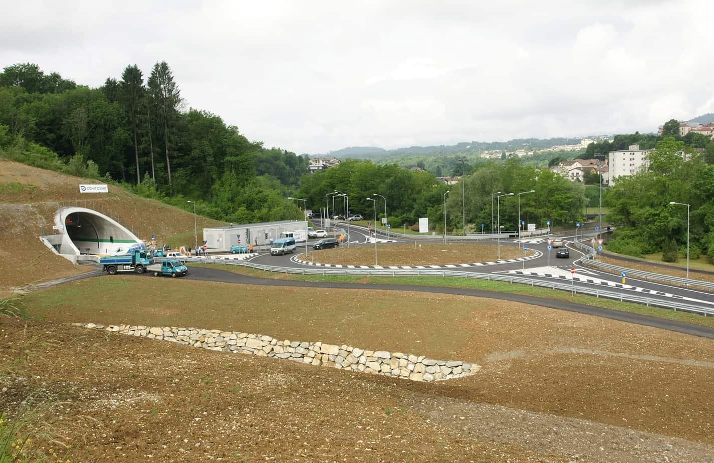 Panoramica dell'imbocco Nord e della rotatoria Ponte Dolomiti