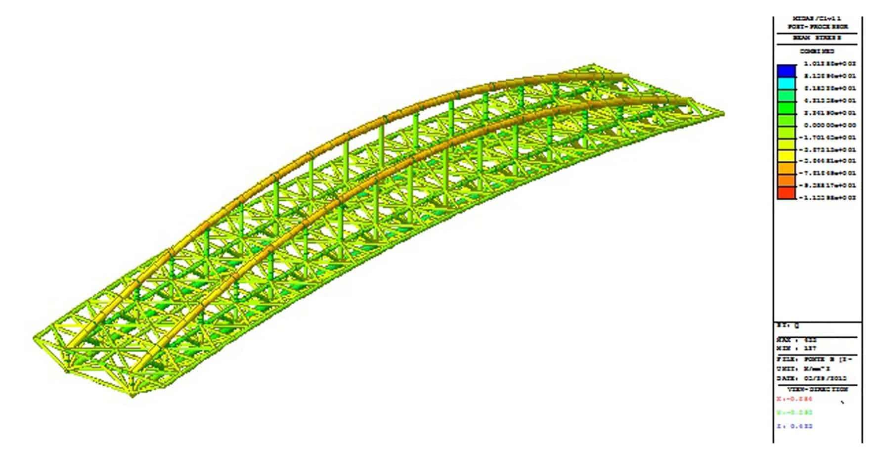 Ponti pedonali in alluminio strade autostrade online for Cabina del tetto ad arco