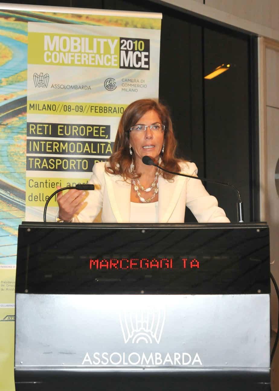 Il Presidente di Confindustria, Emma Marcegaglia