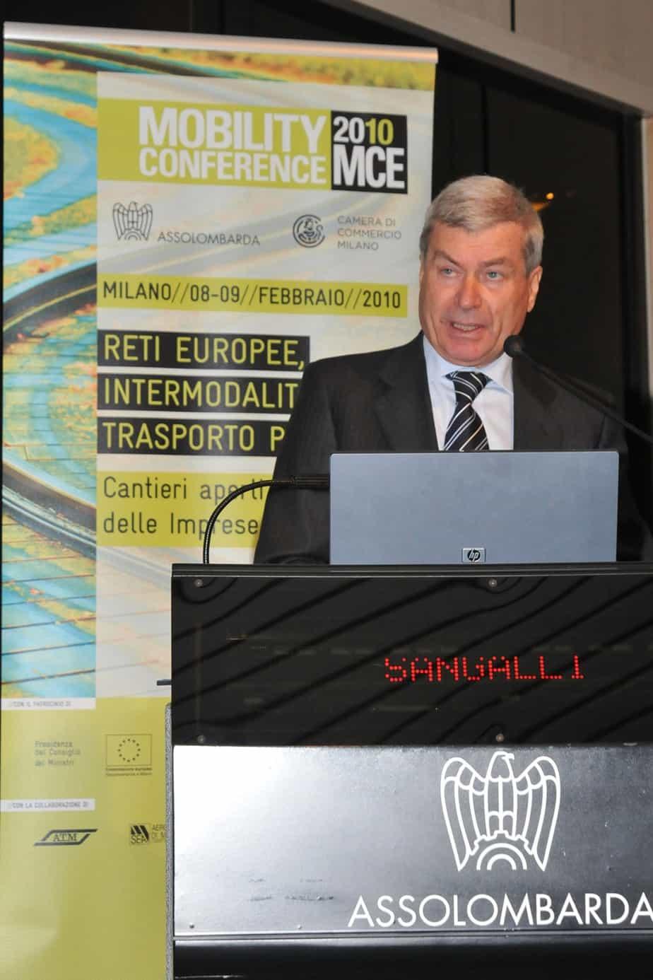 Carlo Sangalli, Presidente della Camera di Commercio di Milano