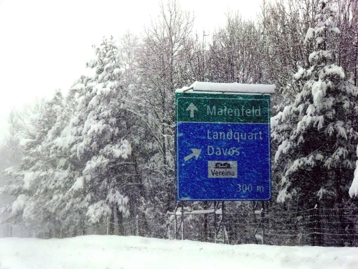 La A28 si interconnette con la A13 nei pressi di Landquart