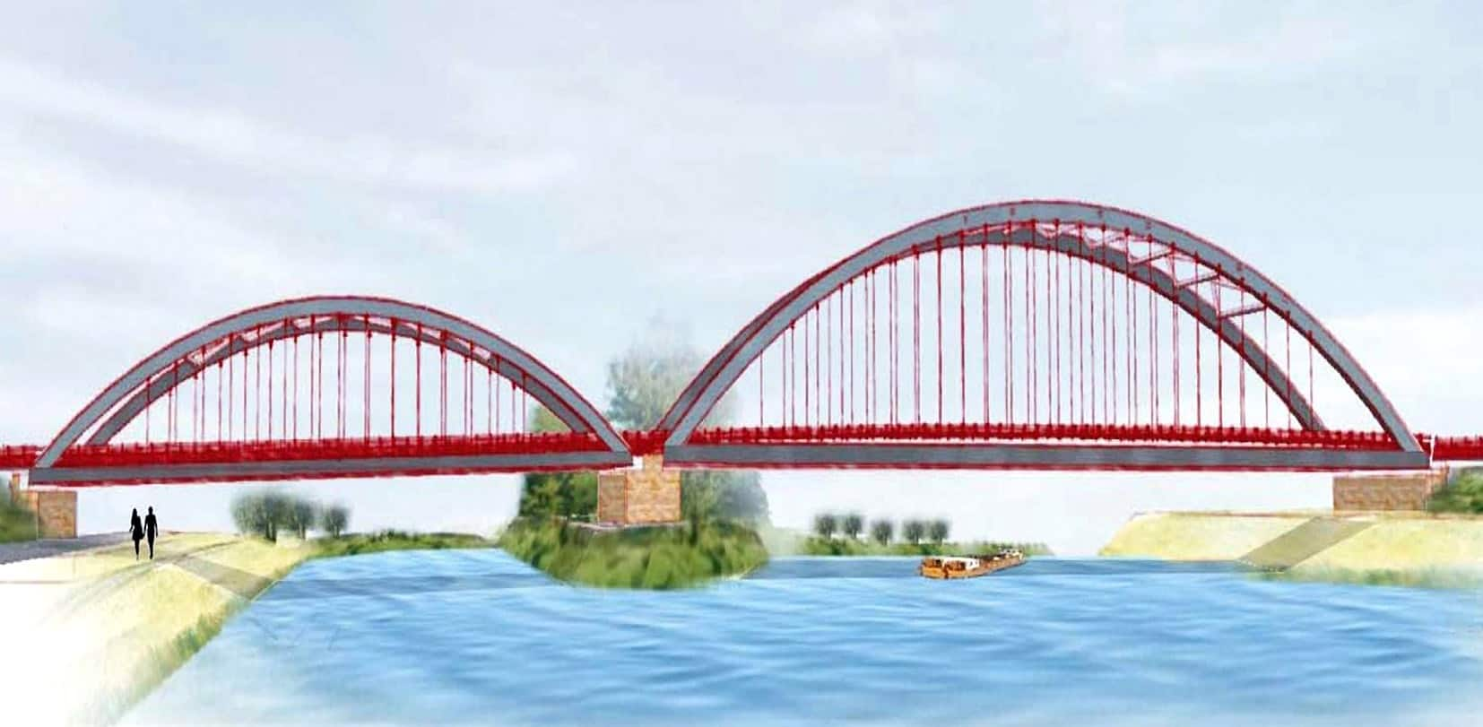 Il rendering del nuovo ponte di Final di Rero
