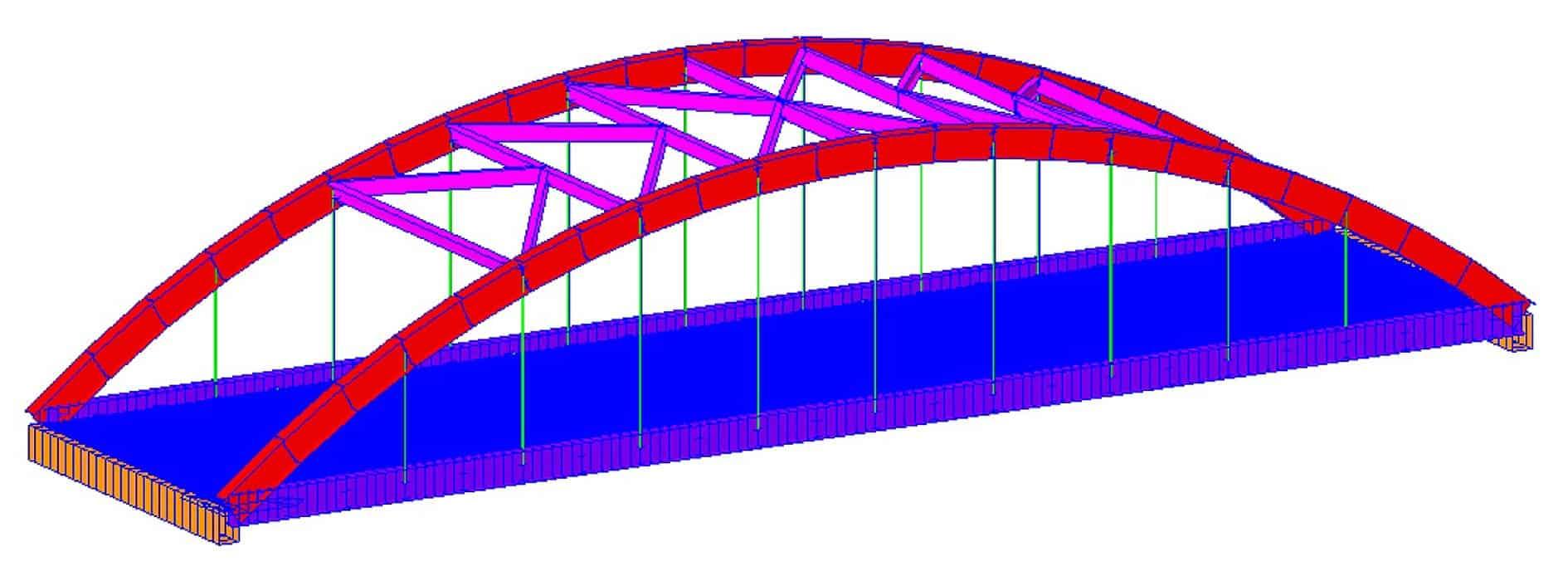 Il modello 3D del ponte di Ca' Dondi
