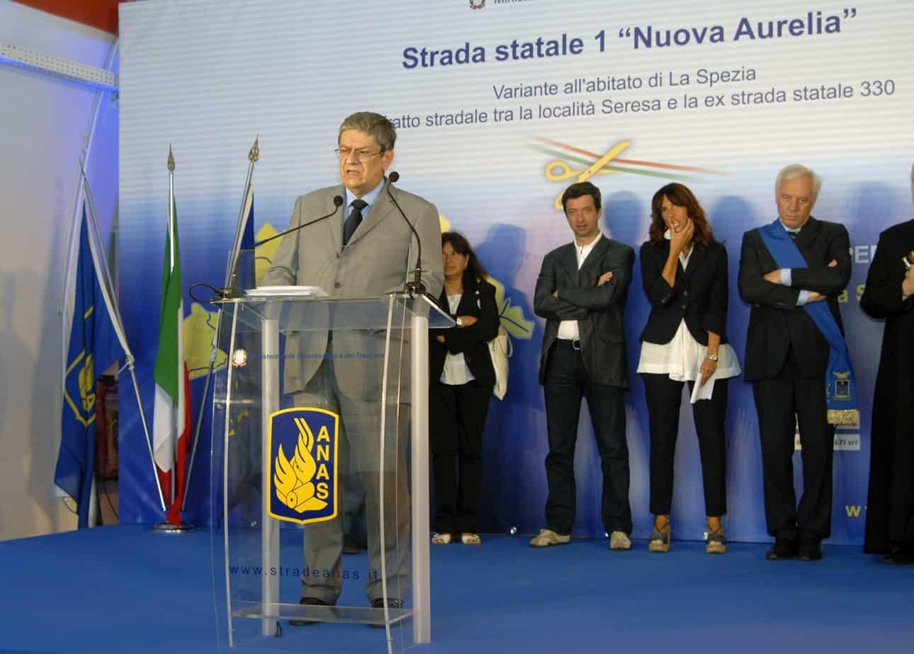 """Un momento dell'inaugurazione della variante di La Spezia alla S.S. 1 """"Nuova Aurelia"""""""