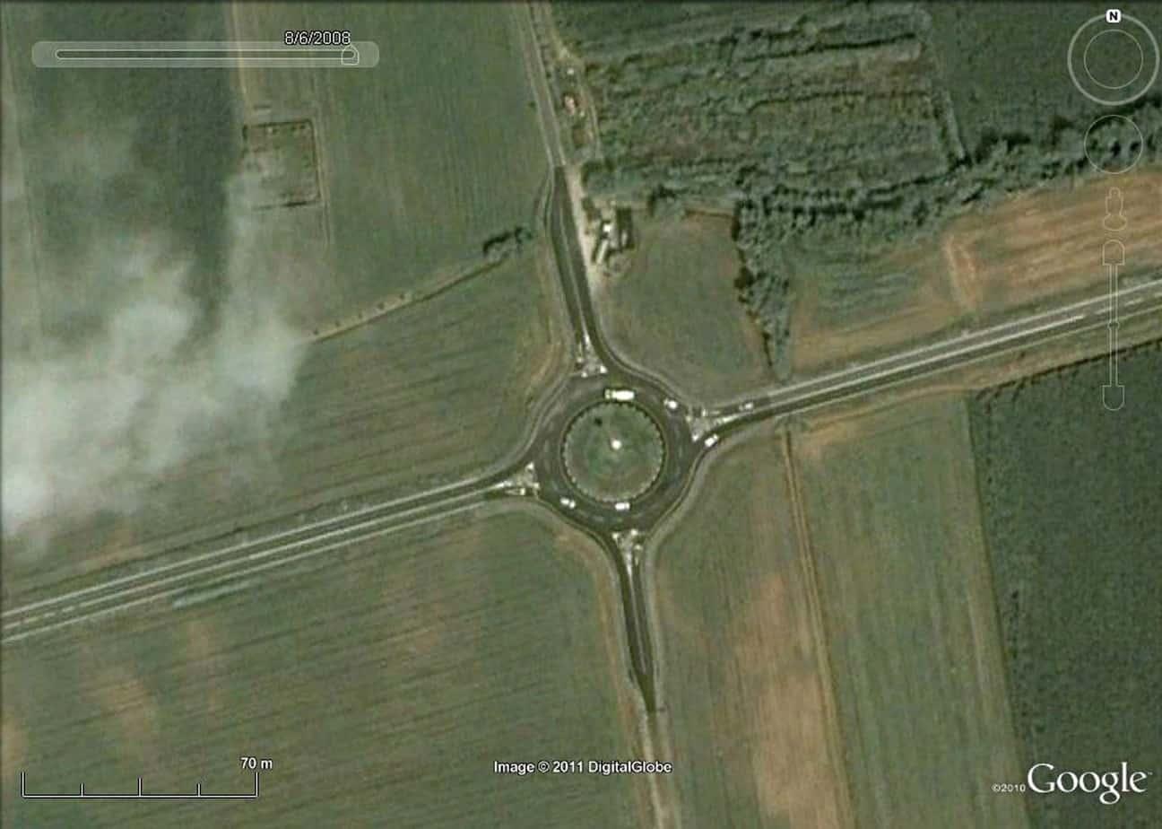 Una foto satellitare dello stato precedente