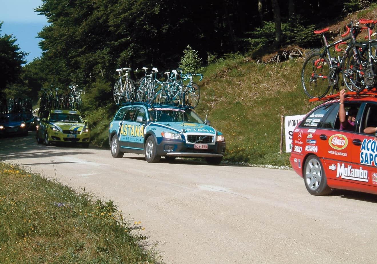 Una strada realizzata con Soil Sement per il Giro d'Italia