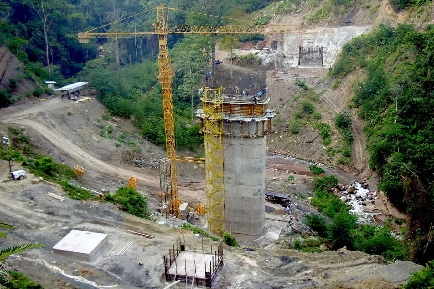 Il viadotto della Colorada in costruzione