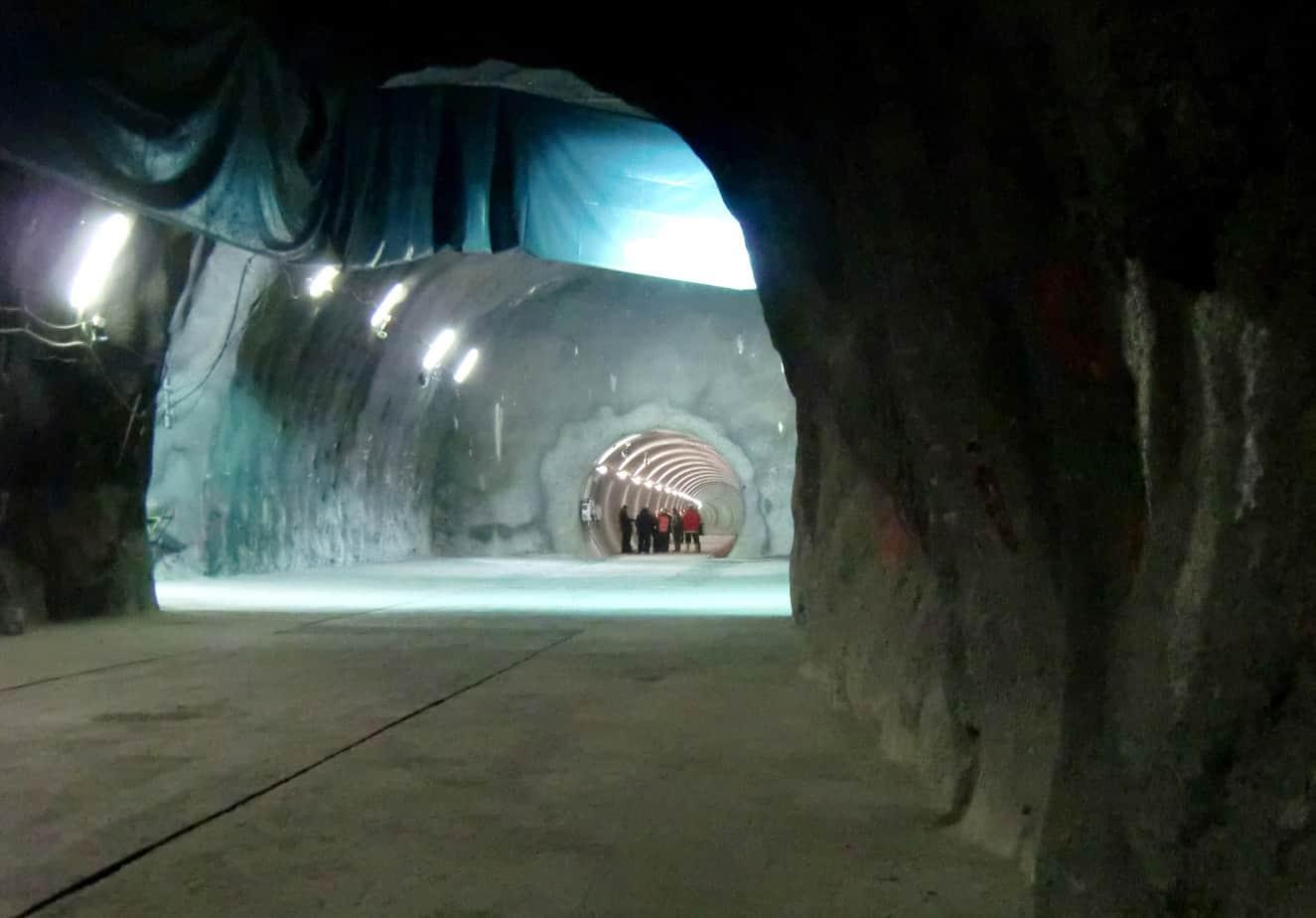 Il cunicolo esplorativo in prossimità della finestra di Mules, al termine dei lavori per il primo lotto costruttivo