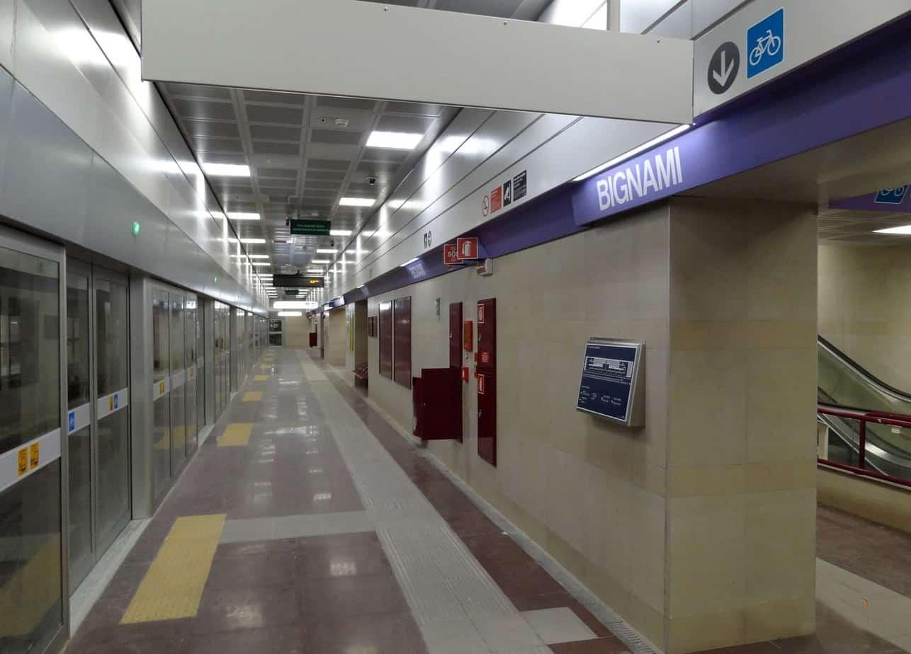 Al capolinea periferico di Bignami è stato realizzato in sotterraneo il posto operativo di controllo
