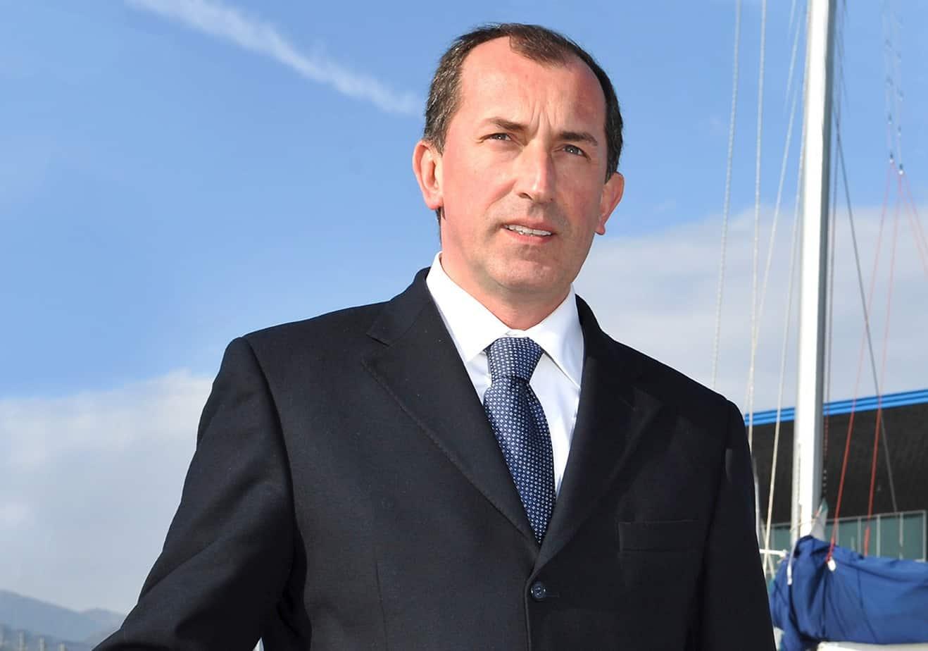 Il Dott. Luigi Merlo, Presidente dell'Autorità Portuale di Genova e Presidente di Assoporti, l'Associazione che riunisce le Autorità Portuali italiane