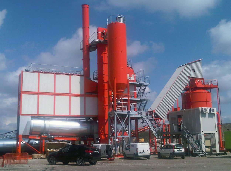 L'impianto Top Tower 3000 installato nel cantiere Tomat a Villesse (GO)