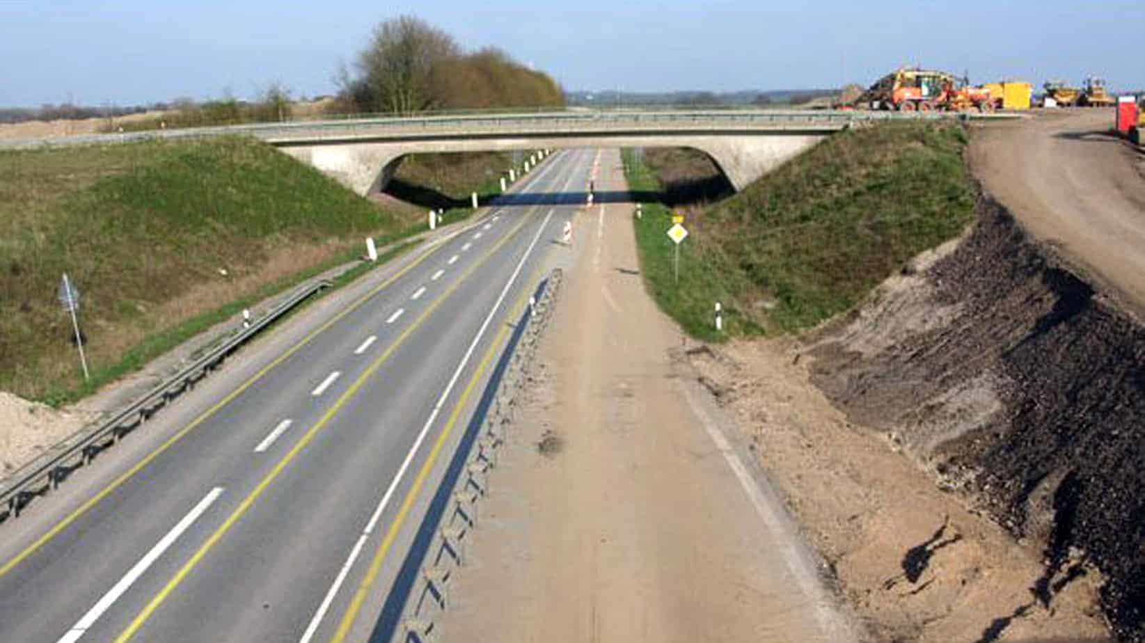 I lavori di adeguamento sulla A20 iniziati nell'anno 2008