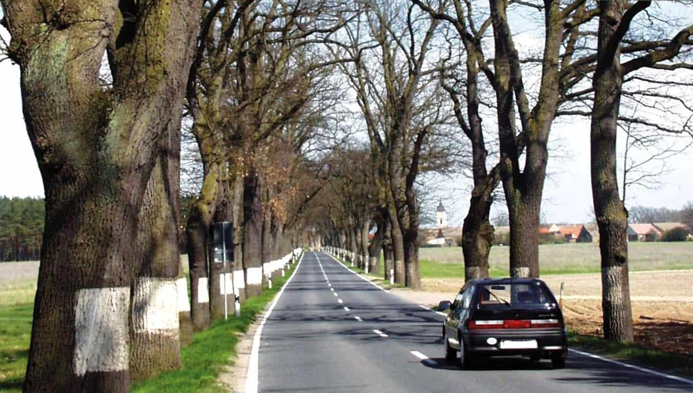 La Bundesstraße nei pressi di Alleen