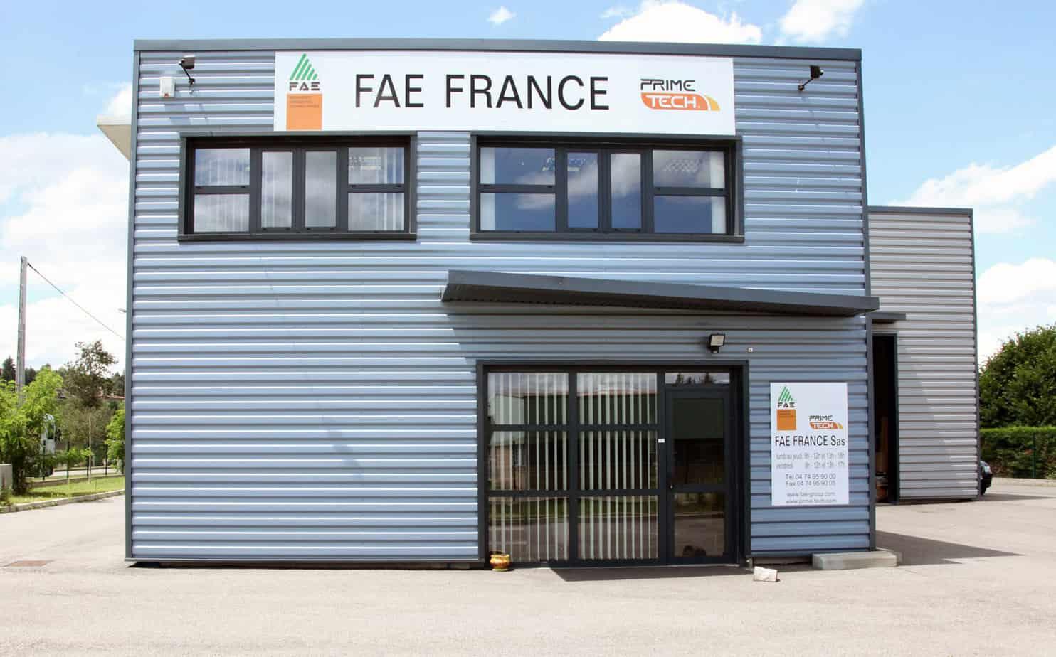 La filiale FAE France a Lione