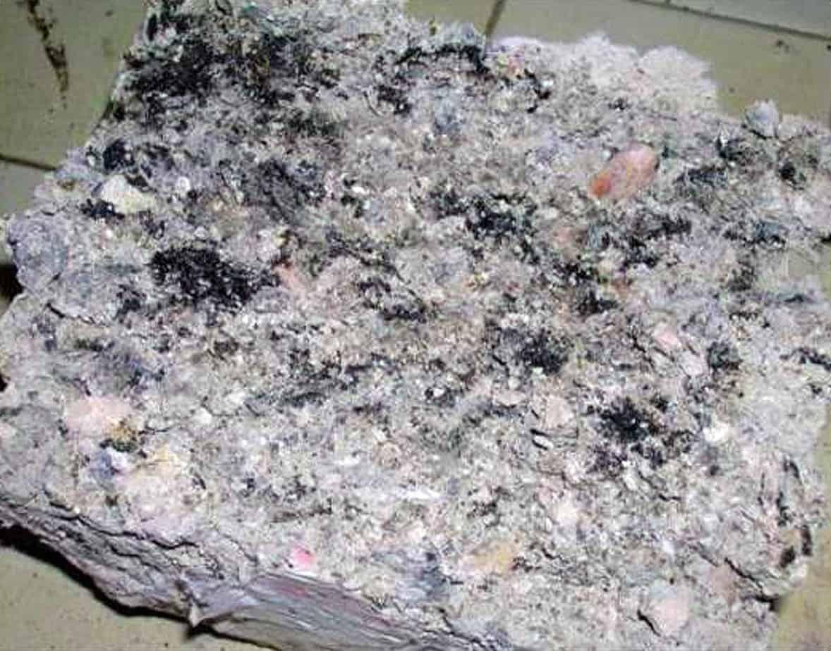 Il campione prodotto con emulsione bituminosa non idonea al riciclaggio a freddo
