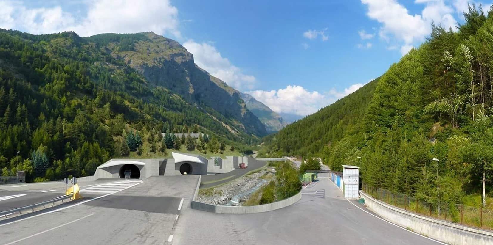 Il rendering fotografico della sistemazione del nuovo imbocco lato Italia
