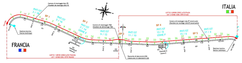 Il tracciato paralleo al tunnel T4 della nuova galleria