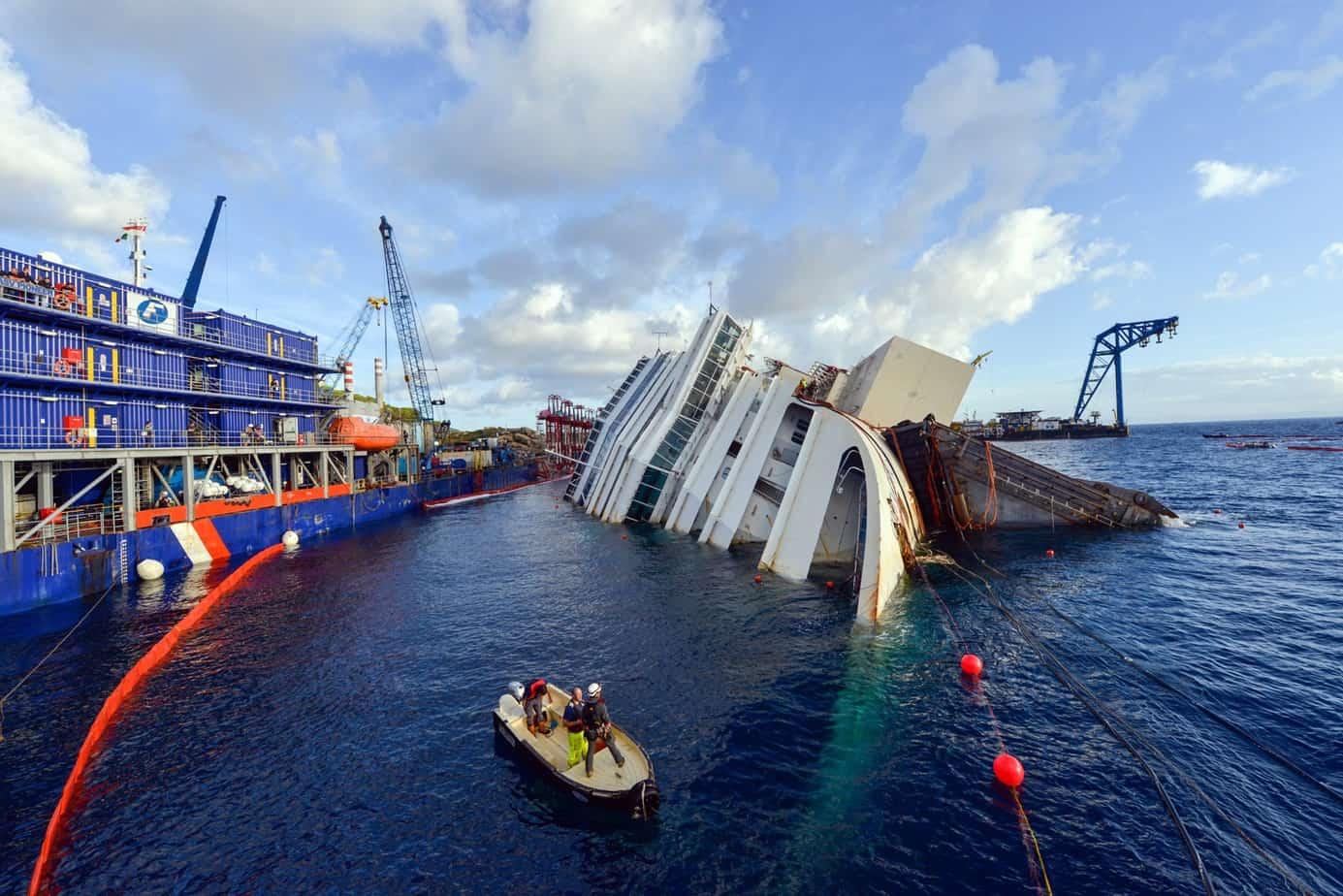 La rimozione del relitto Concordia è un'operazione tecnico-ingegneristica unica nel suo genere