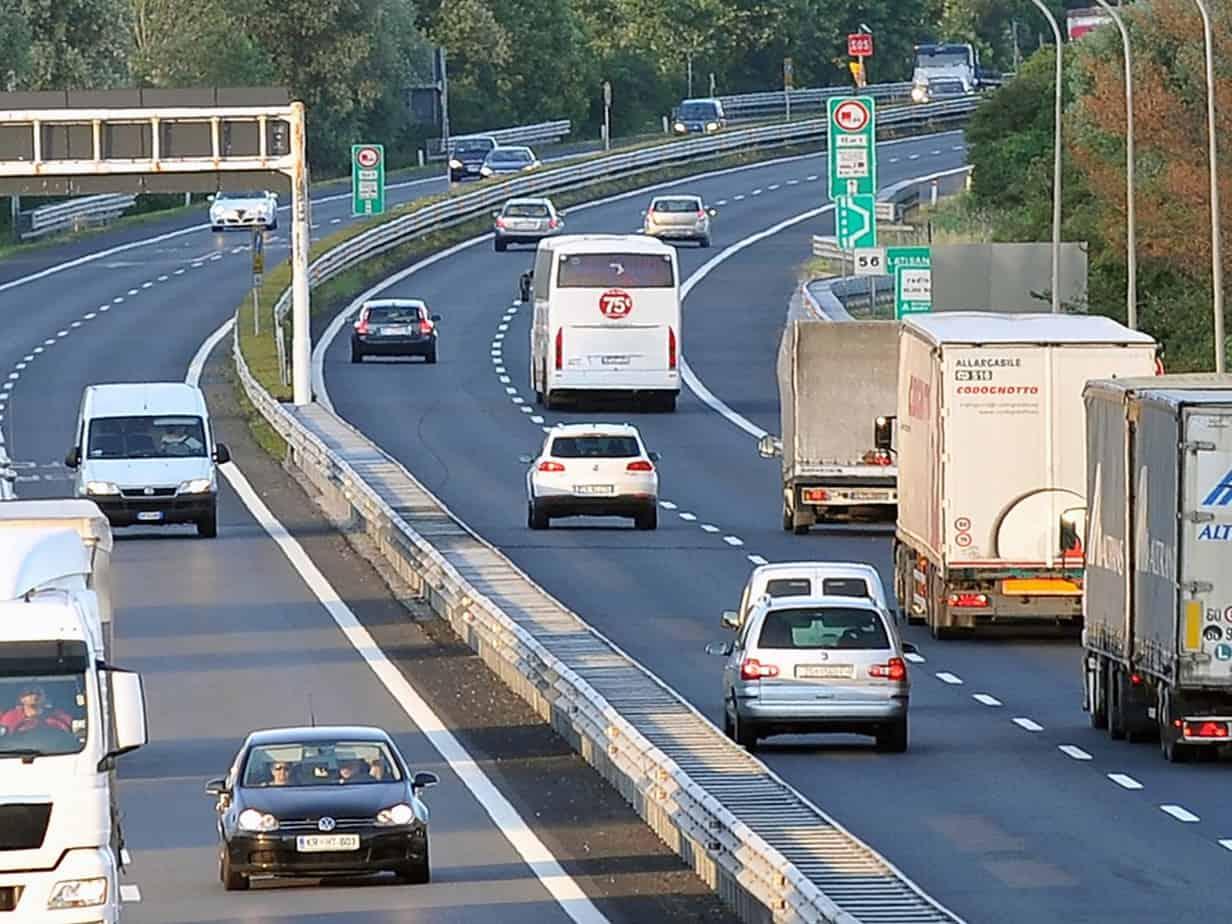 Percorrenza sull'autostrada