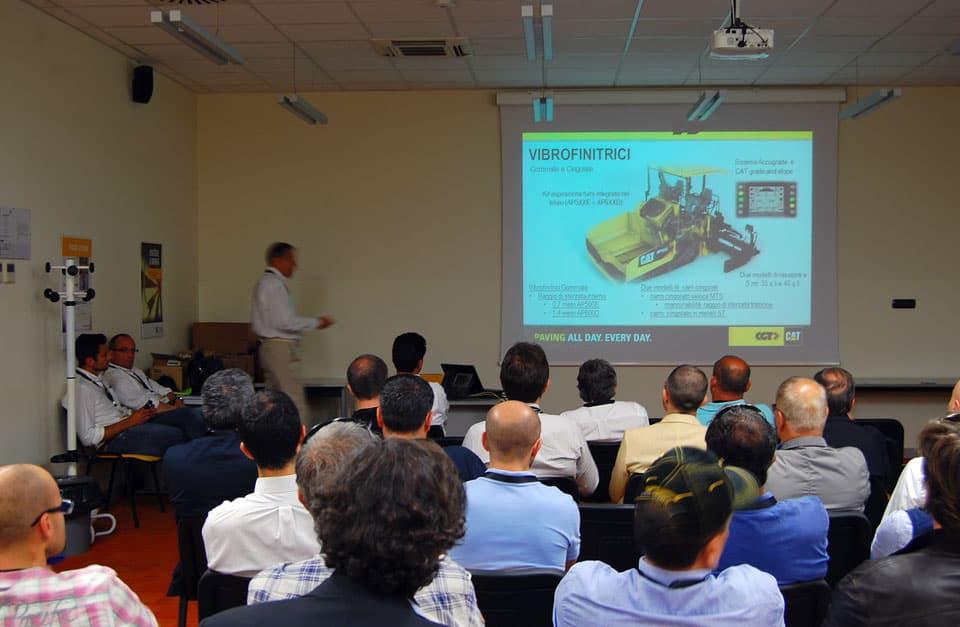 L'intervento in aula per la chiusura dei lavori CGT-Caterpillar