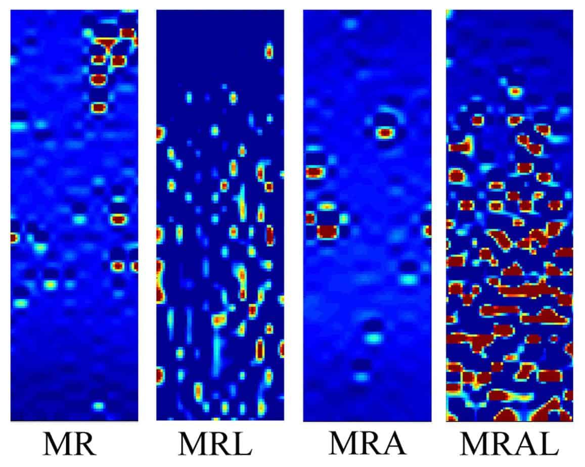 Le mappe di deformazione di mastici contenenti MR