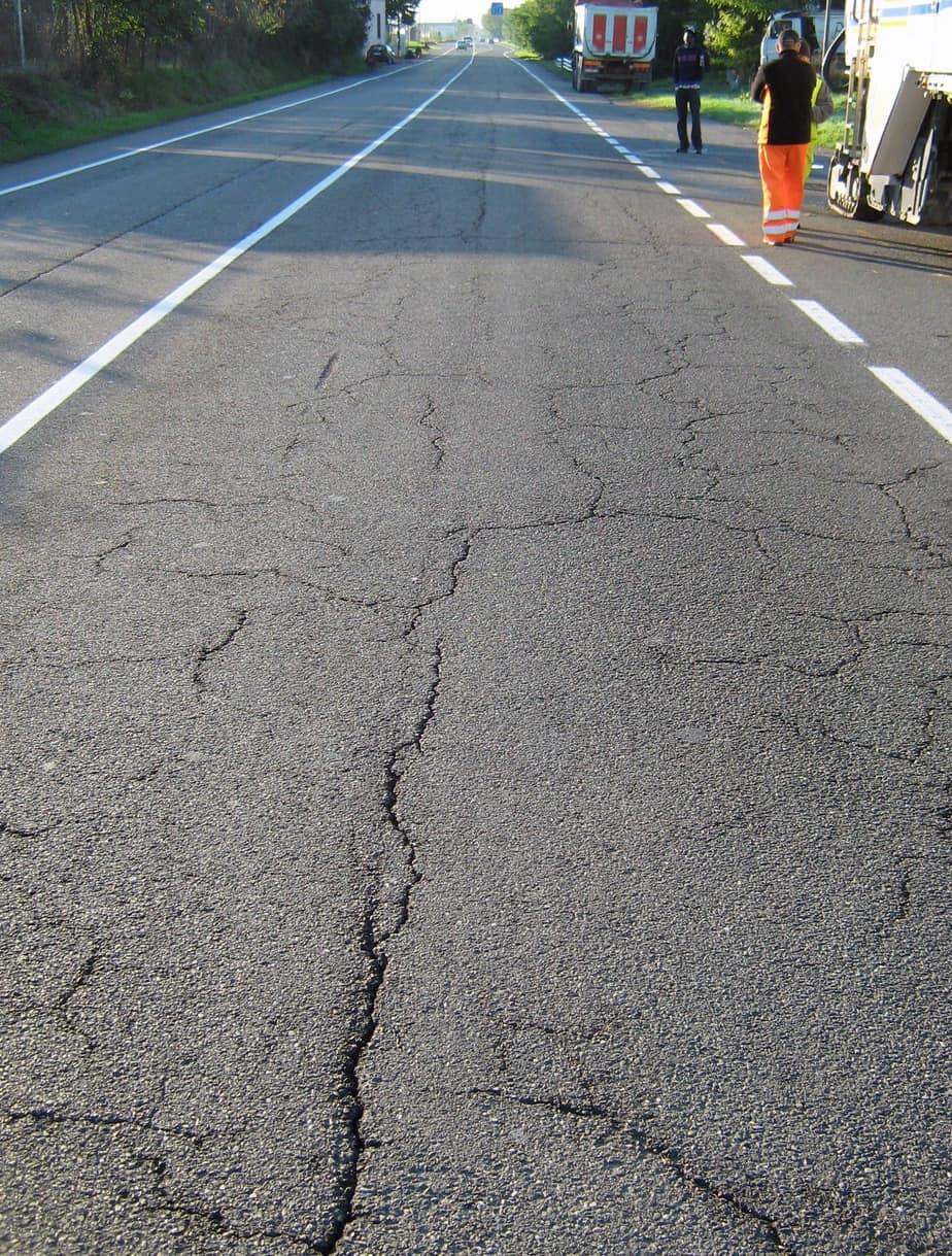 Un esempio di pavimentazione ammalorata