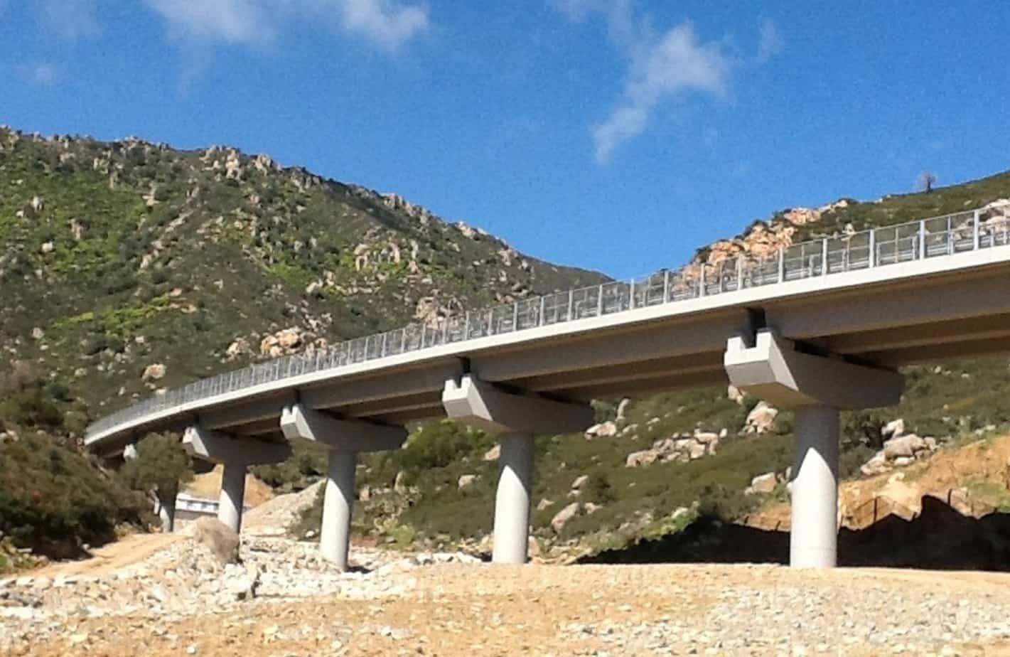 Il viadotto Rio Murtaucci