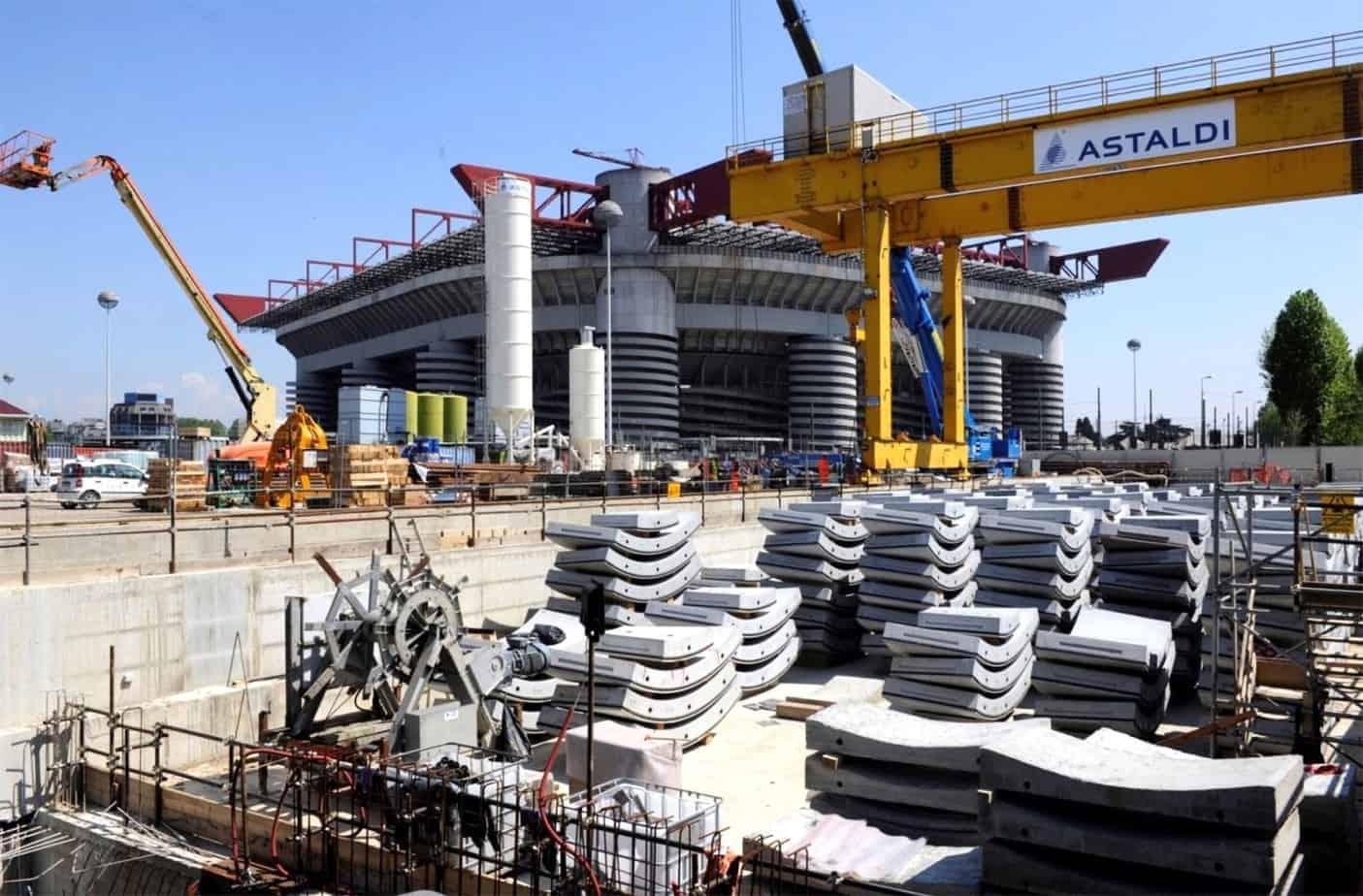 Il cantiere TBM industriale di San Siro