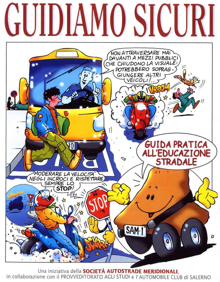 """La copertina del volume """"Guidiamo Sicuri"""" a firma del nostro Bruno Amatucci"""