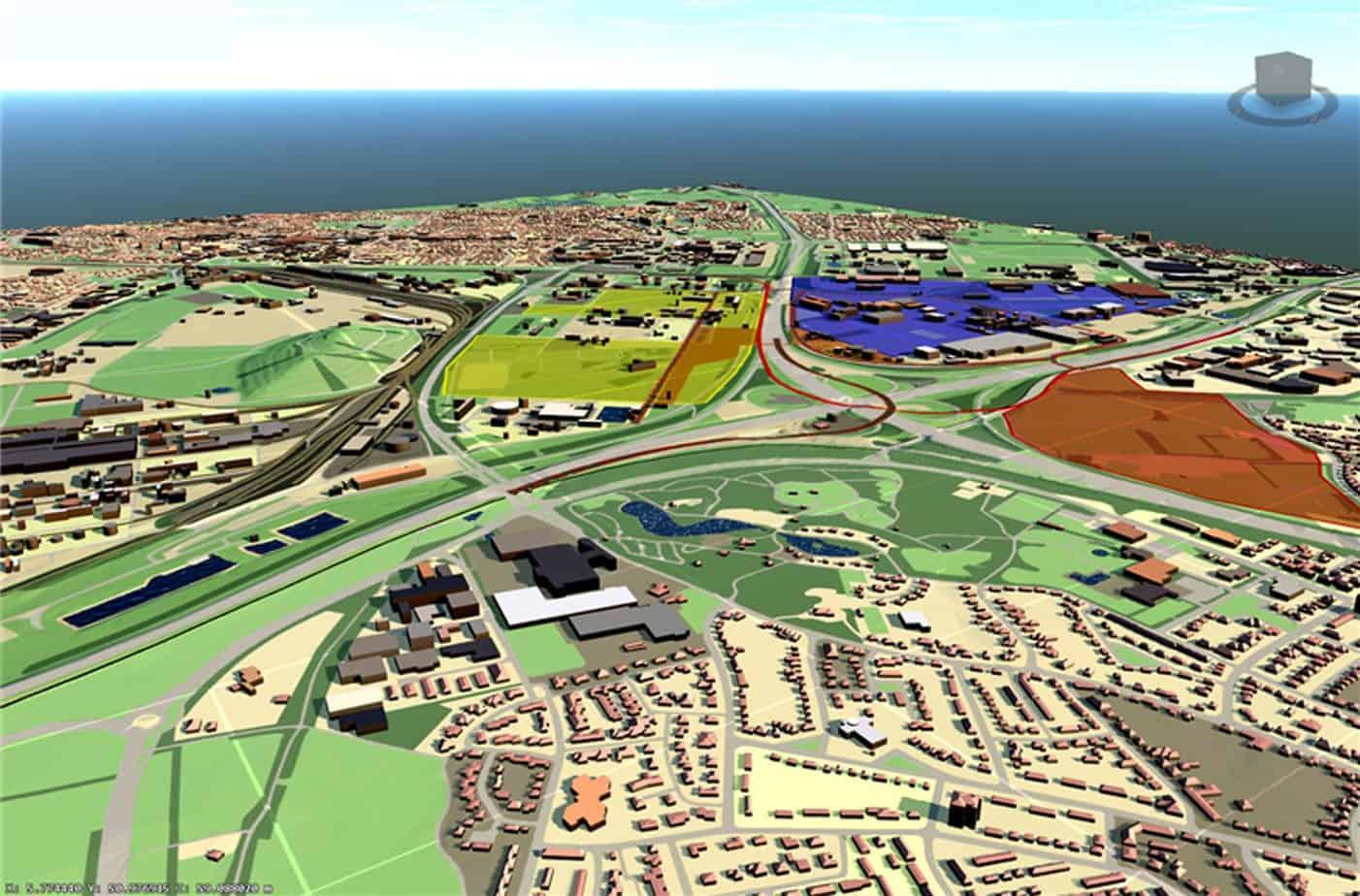 Lo screen capture di un modello di infrastruttura esistente
