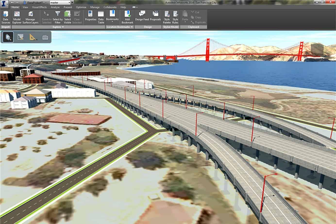 Autodesk InfraWorks 2014 favorisce una gestione efficiente di progetti infrastrutturali anche molto complessi