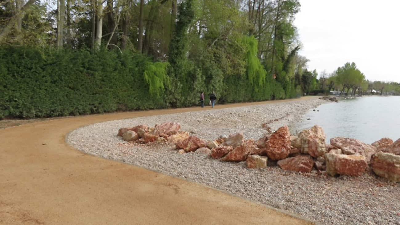 Una ciclabile effettuata con il Soil Sement mediante posa con vibrofinitrice