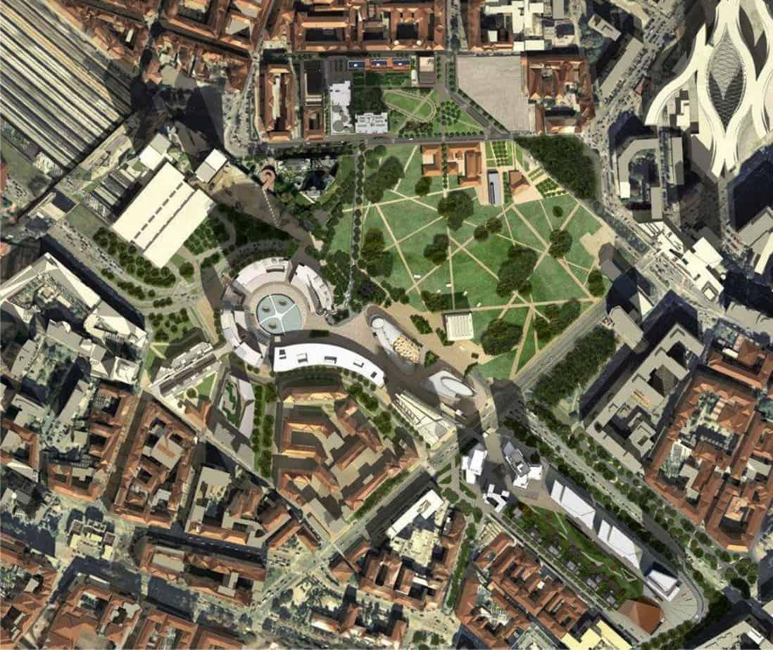 La planimetria del complesso Porta Nuova