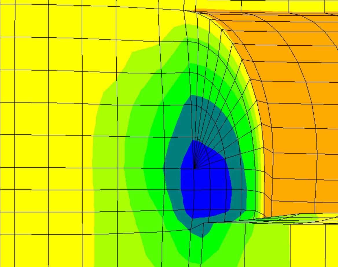 La sezione tipo C1 ETJ - analisi numeriche 3D - comportamento