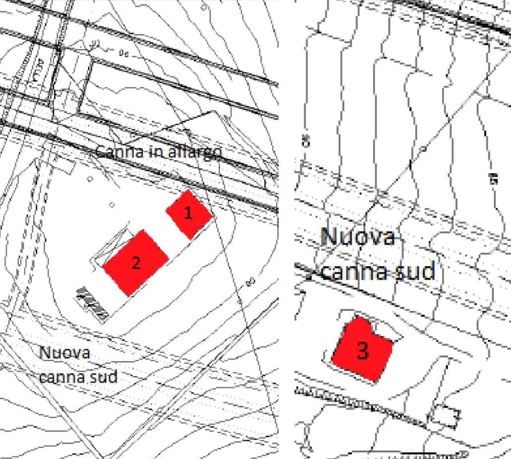 Le planimetrie dell'ubicazione degli edifici