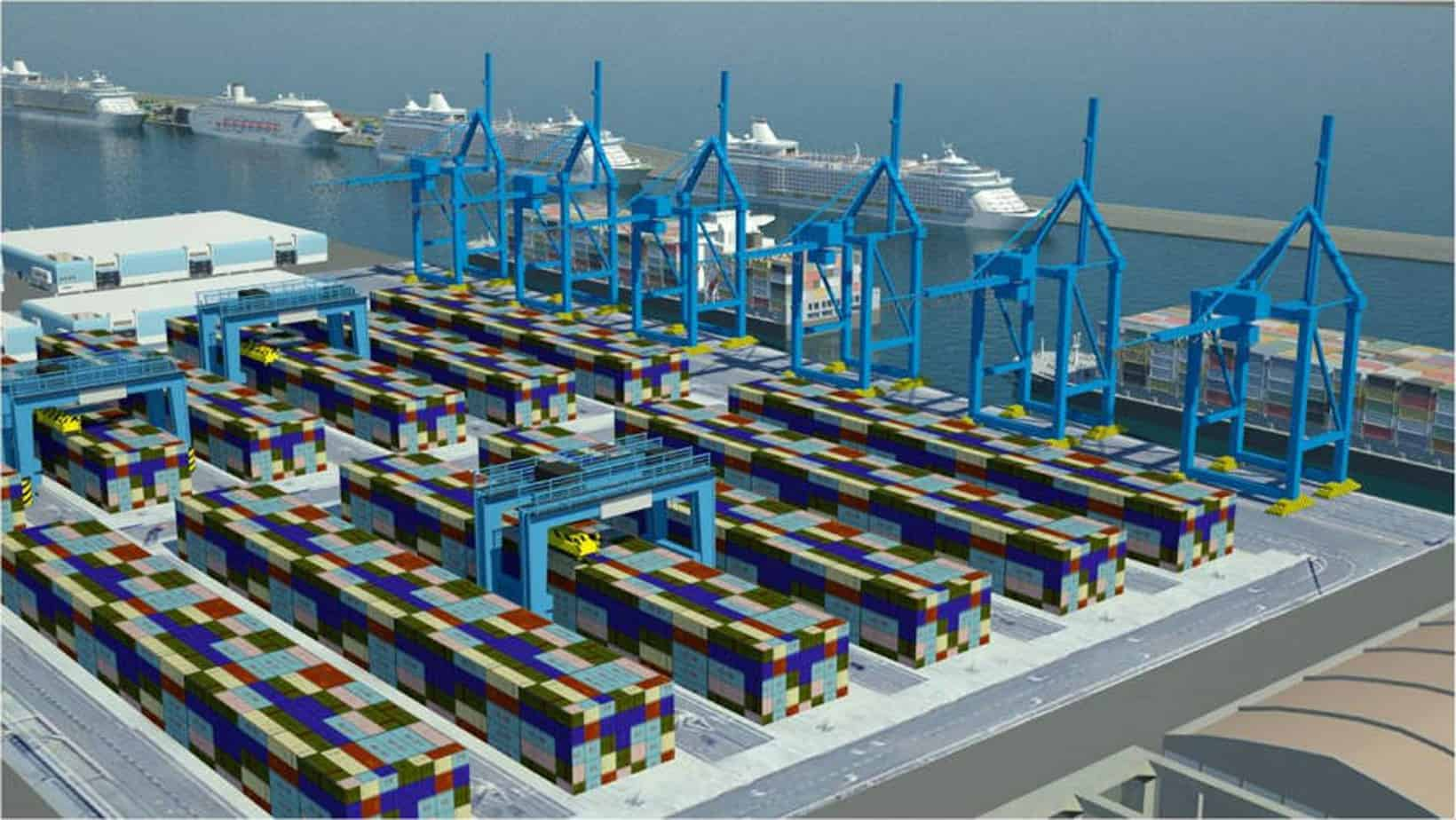 La futura piattaforma container di Civitavecchia