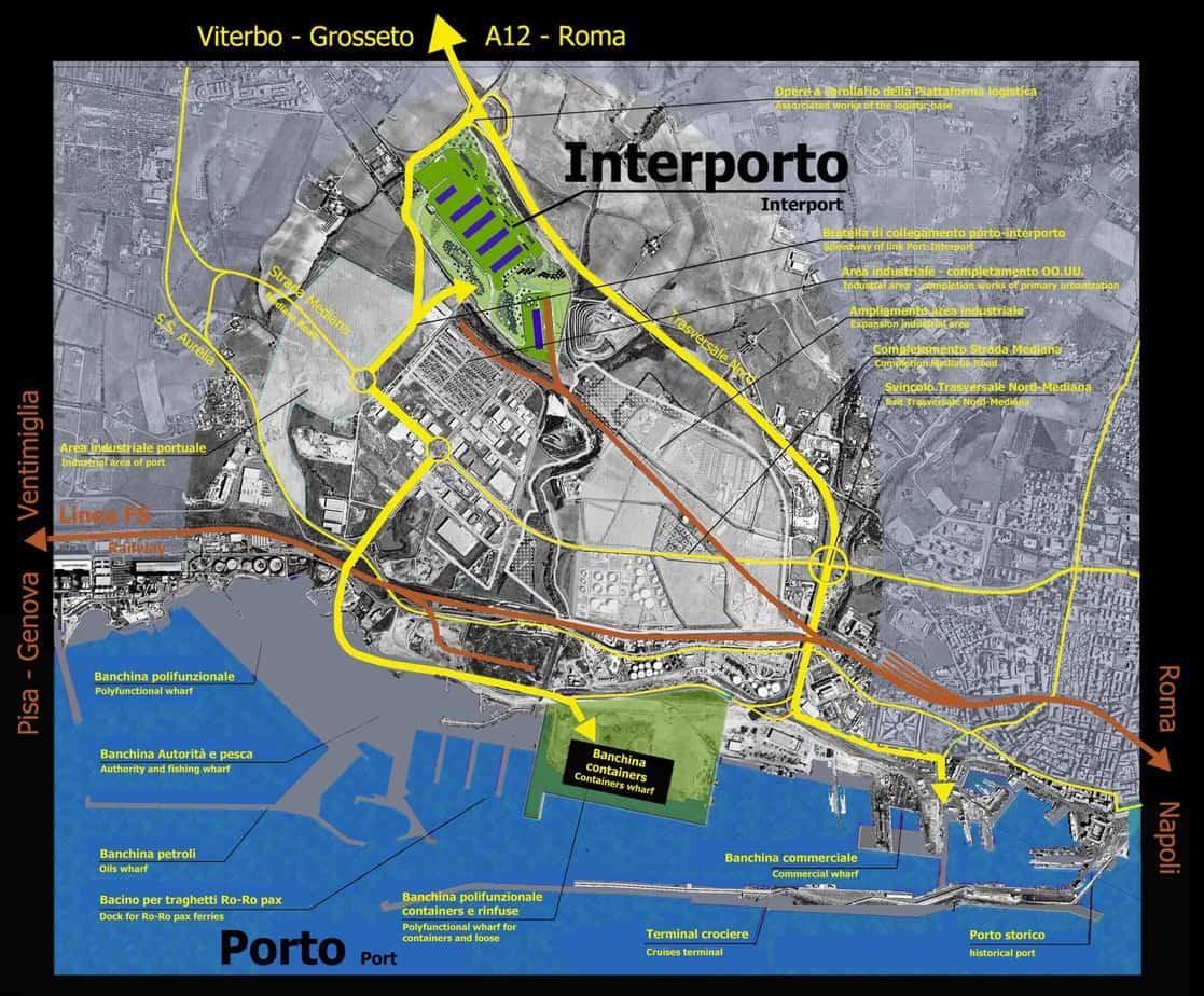 I collegamenti stradali previsti per il nuovo terminal
