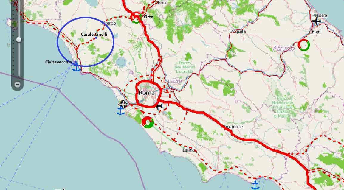 La posizione del porto e le infrastrutture mancanti, in particolare l'asse Orte-Civitavecchia. Le quattro corsie attualmente collegano solamente Orte e Casale Cinelli, nei pressi di Vetralla (VT)