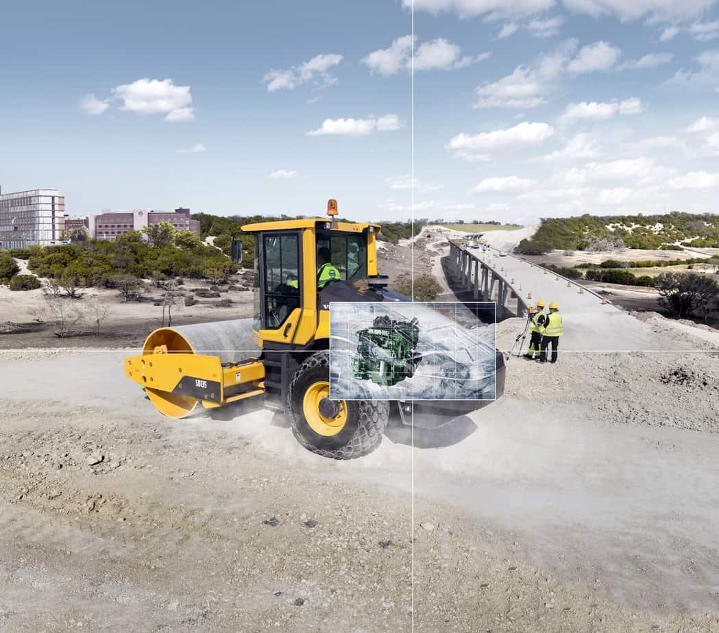 Il motore Volvo eroga una coppia elevata a regimi bassi, garantendo prestazioni superiori e consumi di carburante ridotti. Il motore è dotato di filtro antiparticolato diesel (DPF) per ridurre le emissioni. Il processo di rigenerazione attiva non interrompe il funzionamento, né le prestazioni né la produttività