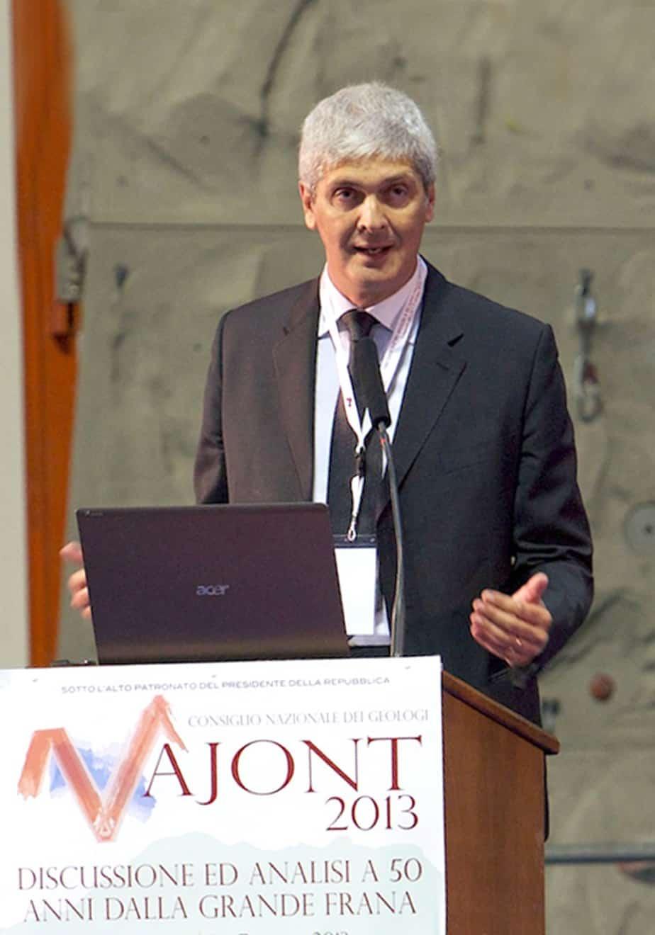 Il Dott. Gian Vito Graziano, Presidente del Consiglio Nazionale dei Geologi