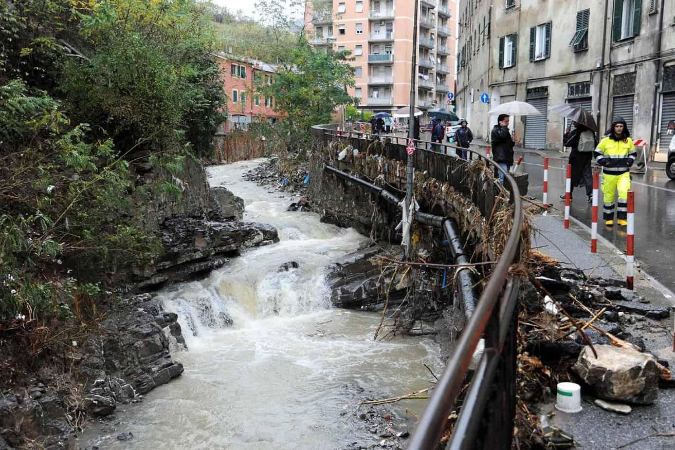 I danni causati da un'alluvione