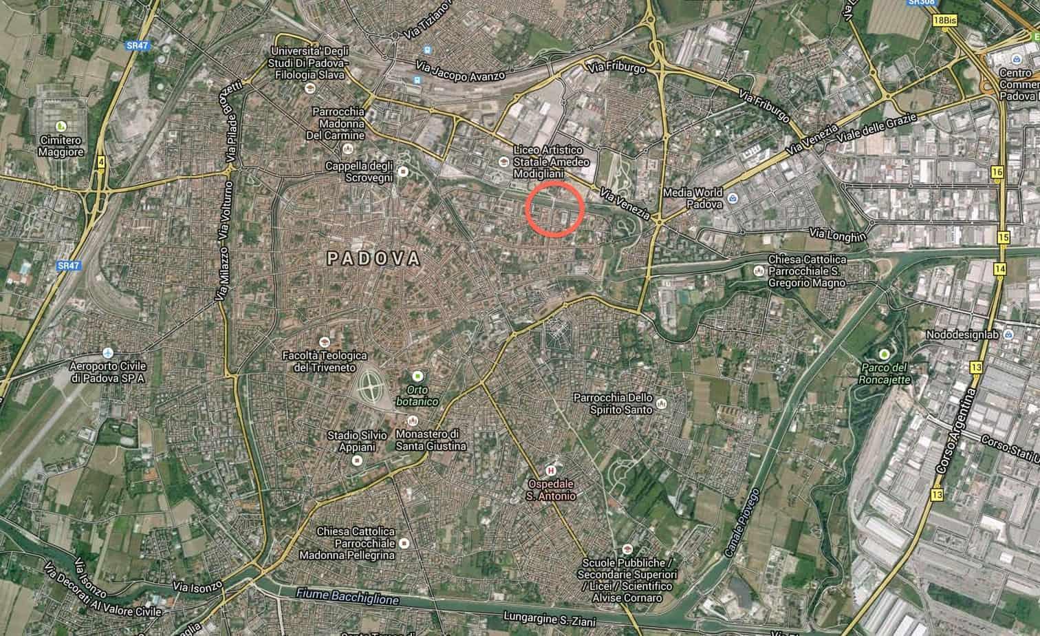 L'ubicazione dell'intervento
