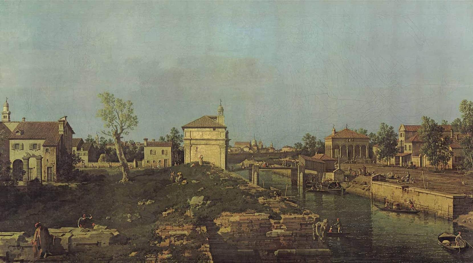"""Porta Ognissanti in un dipinto del """"Canaletto"""" del 1742"""