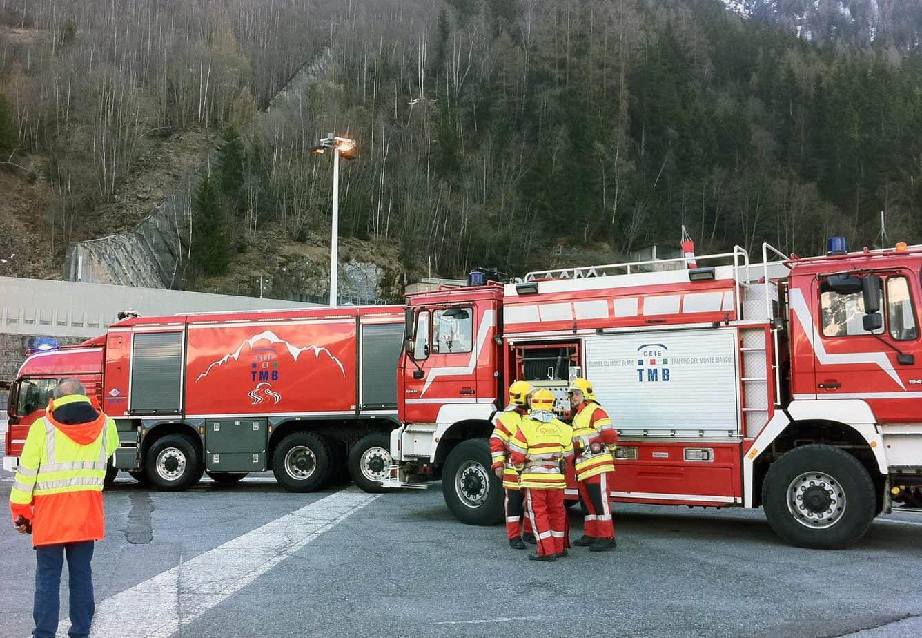 Il veicolo antincendio Janus utilizzato dal giorno della riapertura del Traforo del Monte Bianco