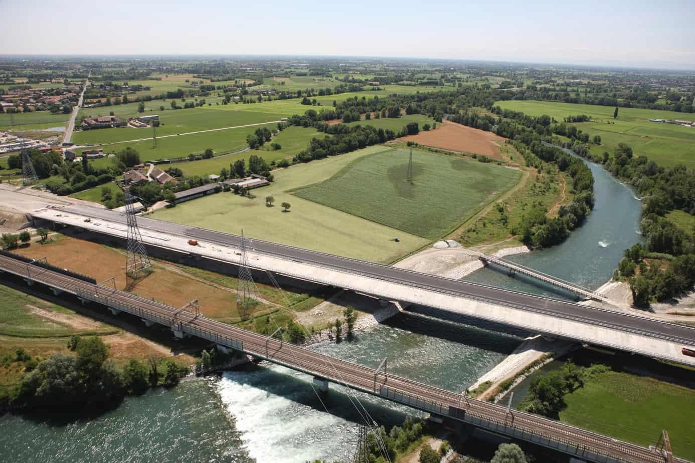 Il viadotto di scavalco del fiume Adda (L = 1.260 m)