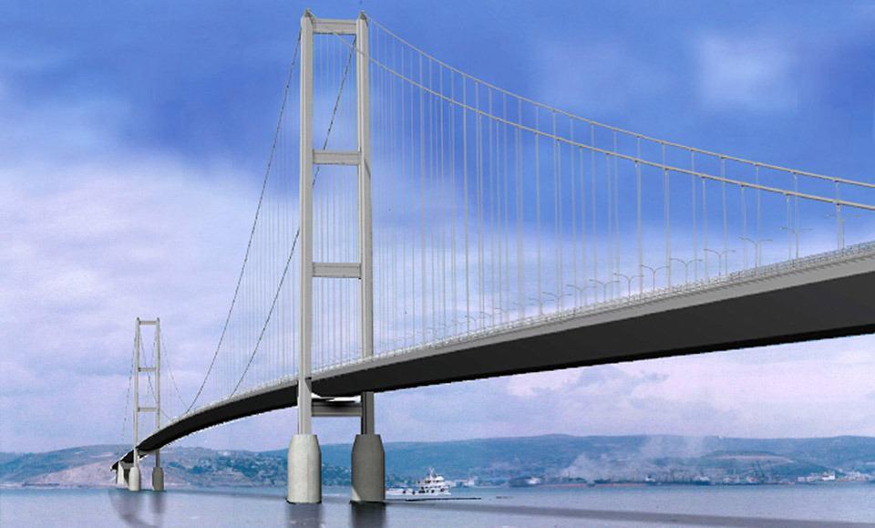 Il ponte sospeso sulla baia di Izmit